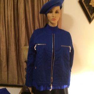 Terry Lewis Jacket/Sweater/Leather Gloves/Beret L